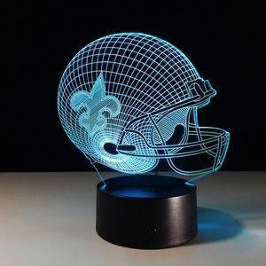 3D new orleans saints lamp